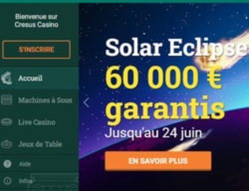 Cresus Casino propose un tournoi sur les top machines à sous Playson