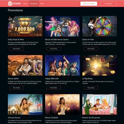 Bonus et promotions du casino online Stakes
