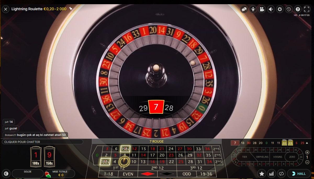 Vue aérienne du cylindre de la Lightning Roulette d'Evolution Gaming