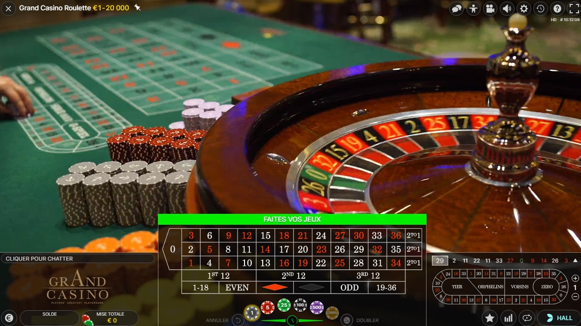 Roulette du Grand Casino de Bucarest en Roumanie