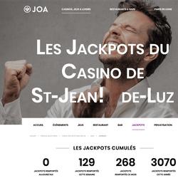 Un couple décroche 2 jackpots progressifs au Casino Joa de Saint-Jean-de-Luz