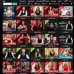 Large gamme de tables de blackjack en ligne sur Cbet
