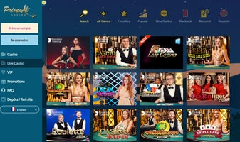 Live Casino Prince Ali integre Croupiers-en-direct.com