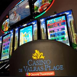 Un jackpot progressif tombe sur une des machines a sous du Casino de Valras-Plage