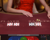 Lightning Baccarat, table de baccara en live en live avec croupiers en direct