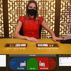 la table de jeu en live Baccarat Control Squeeze sur Joka Casino