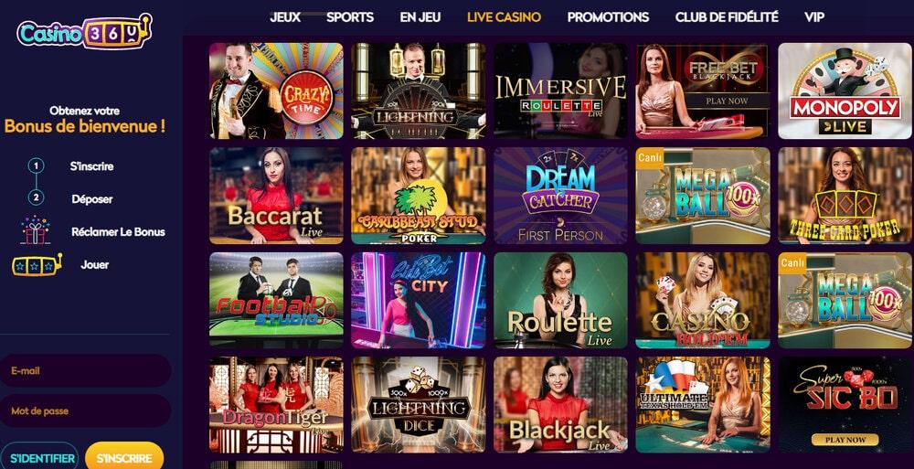 Casino360 sur le guide de jeux Croupiers-en-direct.com