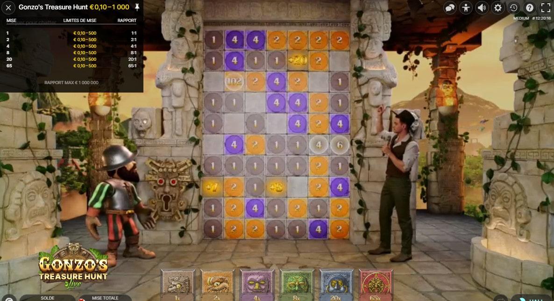 Jeux en live et en 3D Gonzo's Treasure Hunt d'Evolution
