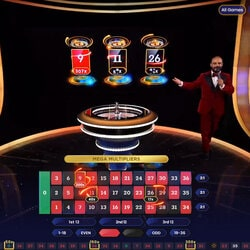 Mega Roulette de Pragmatic Play Live est une roulette en ligne avec multiplicateurs de gains