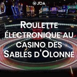 Gros gagnant a la roulette anglaise électronique au Casino JOA des Pins