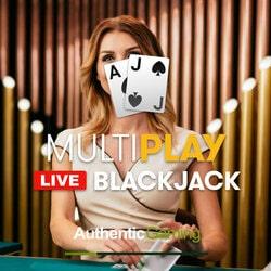 La table de blackjack en ligne MultiPlay Blackjack sort sur Dublinbet