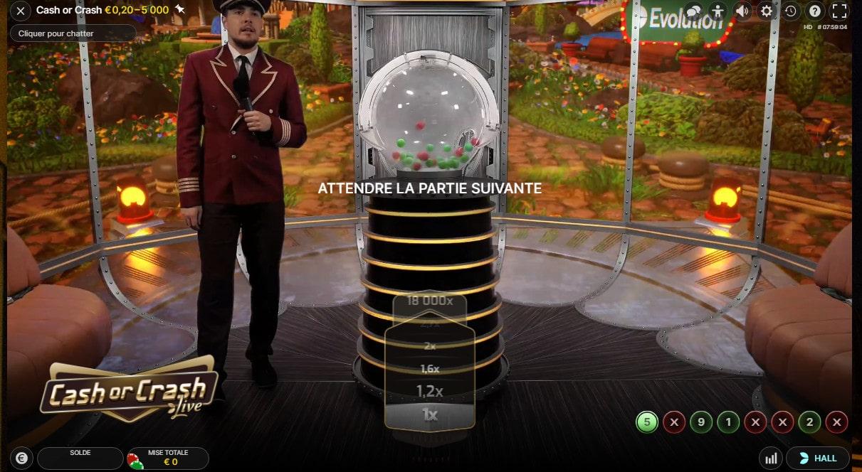 Cash or Crash d'Evolution est un jeu de loterie en ligne