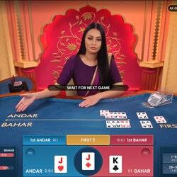 Le jeu en live Andar Bahar est animé par un croupier en direct sur Magical Spin