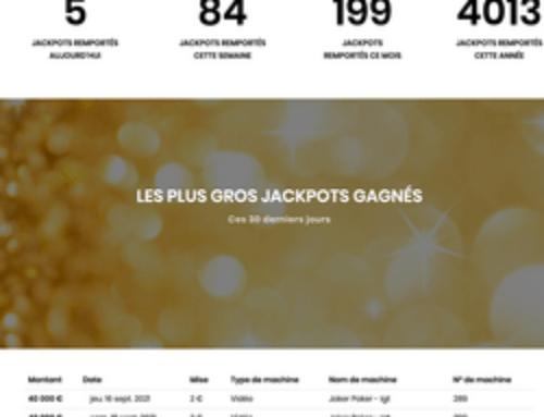 Encore 2 jackpots gagnés au Casino Joa Les Pins des Sables-d'Olonne
