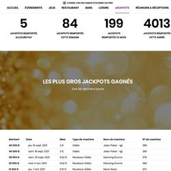 Le Casino Joa Les Pins des Sables-d'Olonne cumulent les jackpots progressifs