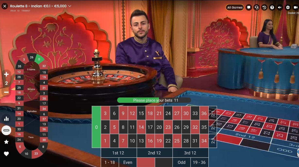 Roulette Indienne de Pragmatic Play Live avec croupier en direct